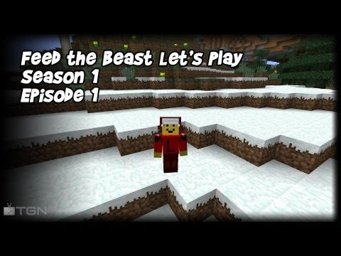 Feed the Beast Let's Play Season 1 Episode 1 Back to Basics!