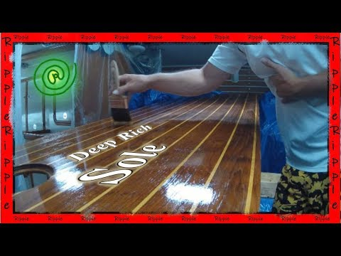 How To Varnish And Refinish A Cabin Sole Sailboat Floor Youtube