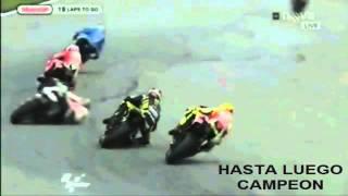 MARCO SIMONCELLI ( accidente ) en el gran premio malasia video HD