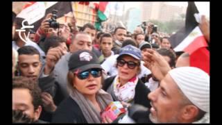 شاهد التحرش بيسرا و ليلى علوى فى التحرير