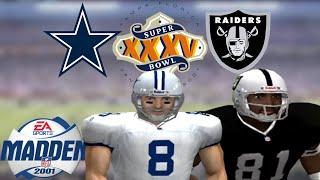 Madden 2001 PS2 Gameplay: Super Bowl XXXV - Dallas Cowboys vs. Oakland Raiders