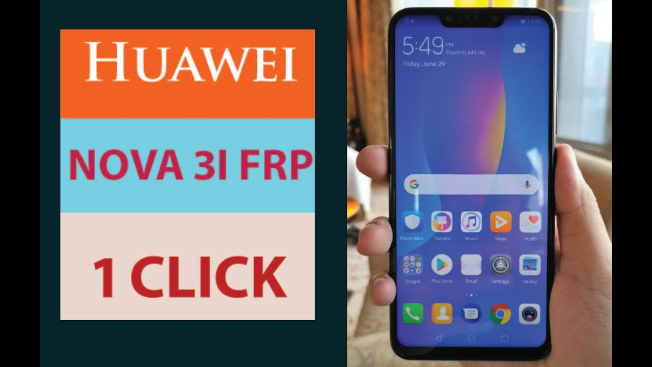 Huawei Nova 3i frp unlocked by IMEI using Unlock Code