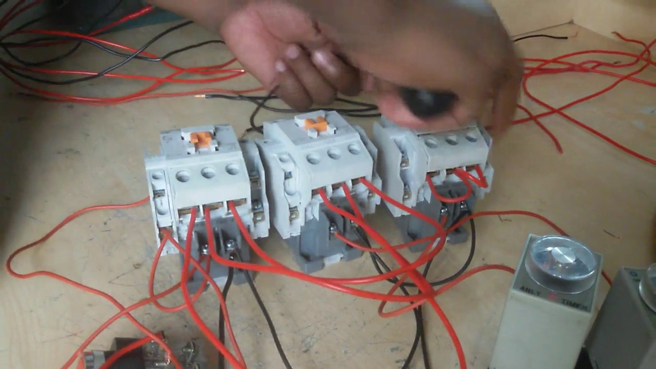 How To Make Auto Star Delta Motor Connection And Run In Wye Start Wiring Diagram Get Free Image About English Starter