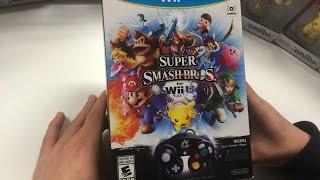 Super Smash Bros.for Wii U (Gamecube Controller Bundle) Unboxing !!