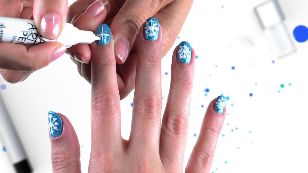 Frozen snowflake nail art tutorial official disney channel uk frozen snowflake nail art tutorial official disney channel uk hd youtube prinsesfo Images