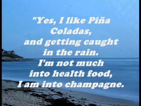 Rupert Holmes - Escape/The Pina Colada Song (Lyrics)