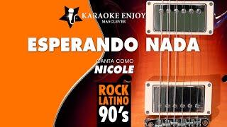 Esperando nada - Nicole (Versión cover Karaoke con letra pintada)