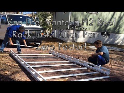 van life vantech h2 roof rack installation part 4 zero factor