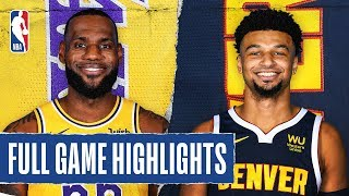 LAKERS at NUGGETS | FULL GAME HIGHLIGHTS | December 3, 2019 Video