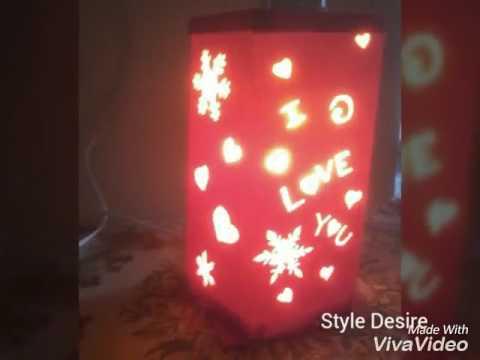 Diy cardstock lantern/lampshade