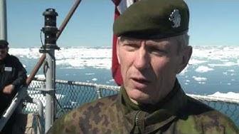 Kenraali Puheloinen arktisten maiden komentajien kokouksessa Grönlannissa kesäkuussa 2013