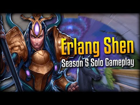 Smite: Hunter's Blessing Against a Hunter!- Season 5 Erlang Shen Solo Gameplay