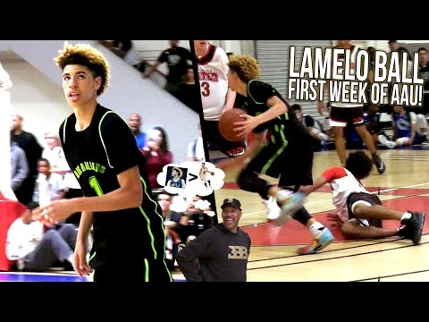 LAMELO BALL Getting LONZO Treatment from LAVAR! LaMelo AAU Week 1 FULL HIGHLIGHTS