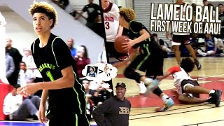 LaMelo Ball LEARNING the Same Way LONZO DID! AAU Week 1 w/ Big Ballers FULL HIGHLIGHTS