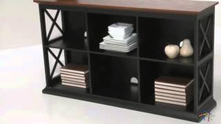 Belham Living Hampton Console Table Stackable Bookcase Black/oak - Product Review Video
