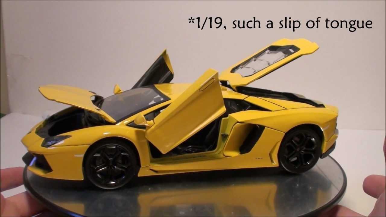 1:24 Welly Lamborghini Aventador lp700-4 2011 Yellow