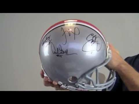 Ohio State Buckeyes Heisman Winners Signed Authentic Helmet - Griffin George Smith Cassady