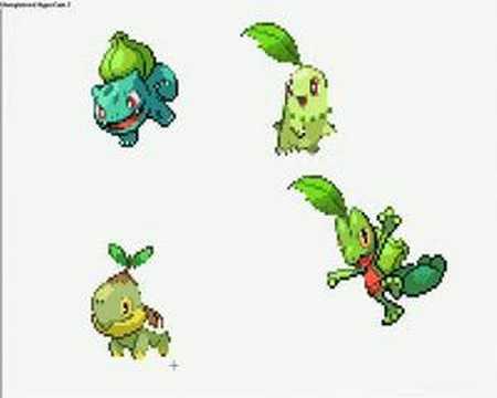 all 4 starter pokemon
