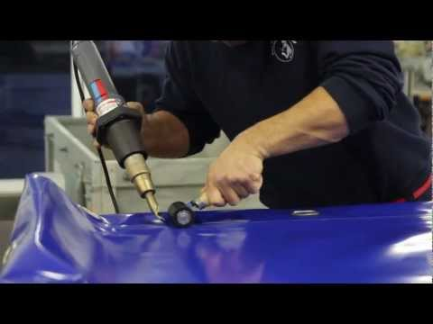 How to: Tarpaulin Welding Heat Gun. Repairing tarps with hot air gun