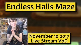 endless Halls Lucid Nightmare Maze in 83 minutes! November 10th Live Stream VoD