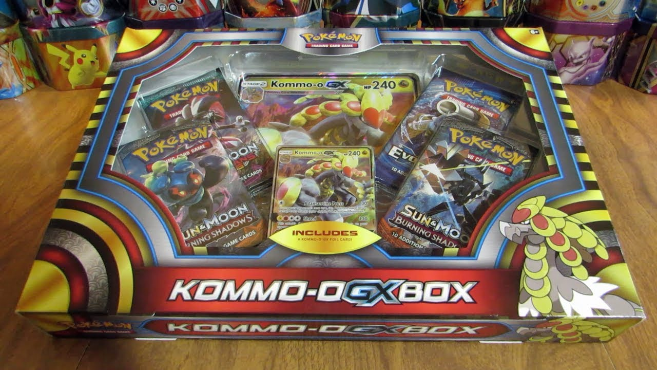 Pokemon Kommo O Gx Box Opening Youtube