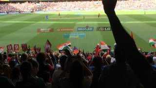Rohit Sharma getting to his 100 at the MCG against Bangladesh in the World Cup Quarter Final.