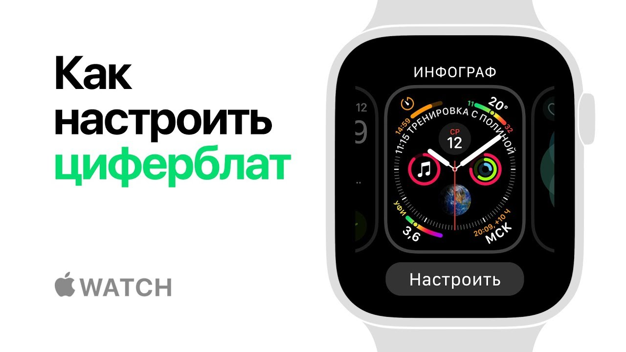 Apple Watch Series 4  Как настроить циферблат  Apple