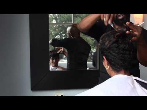 Short Haircut And Color (Atlanta's Top Salon)