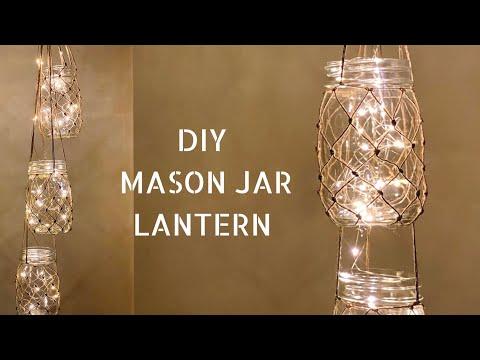 DIY Mason jar DIY Hanging Lantern | Mason Jar Lantern diy | dollar tree DIY | DIY wedding | makramee