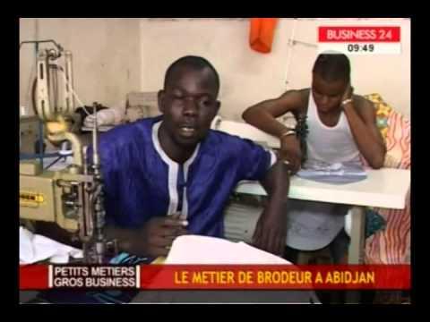 Petits métiers gros business  le métier de brodeur a Abidjan /Business 24
