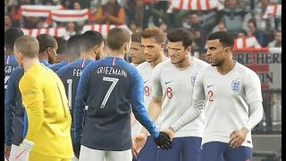 France vs Angleterre PES 2019 Difficulté Légende Gameplay PC (MOD REALISTE)