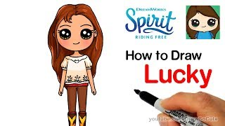 How to Draw Lucky | Spirit Riding Free