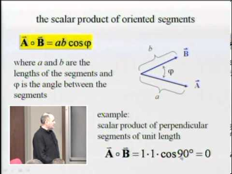 Physics 240 Lecture 6 - Scalar Product and Cartesian Coordinate System