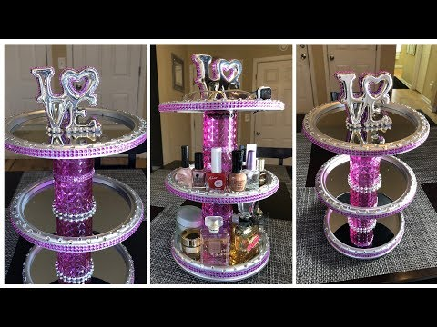Dollar Tree DIY - 💕 3-Tier Rotating Vanity/Organizer 💕