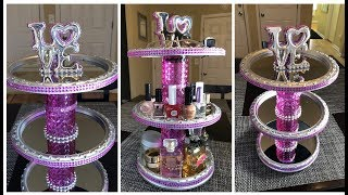 Dollar Tree DIY || 3-Tier Rotating Vanity/Organizer