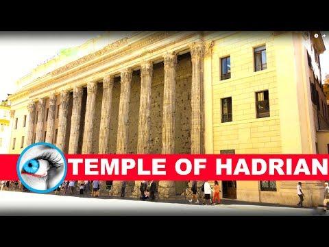 TEMPLE of HADRIAN - ROME ITALY - 4K Travel Video 2017