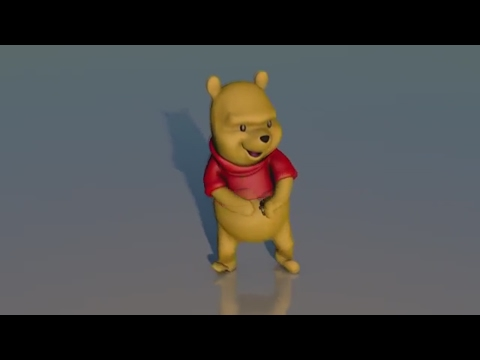 Winnie The Pooh dancing to Push The Feeling On