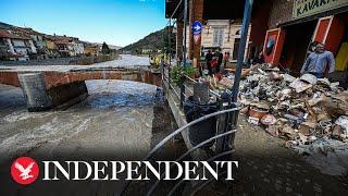 Heavy rain causes mudslides in Italy