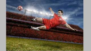 high speed soccer photo shoot