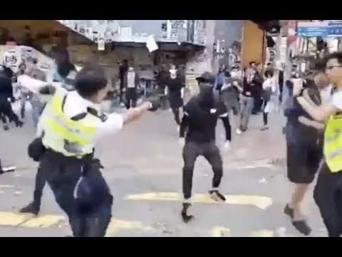 《今日点击》11.11 港警忽然多处同时发难开枪 香港陷入大混乱