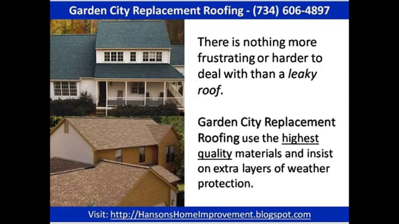 Garden City Replacement Roofing   (734) 606 4897