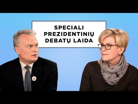 Speciali prezidentinių debatų laida. Gitanas Nausėda ir Ingrida Šimonytė