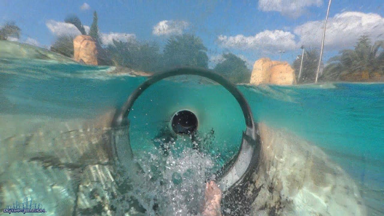 dolphin plunge body slide both slides hd povs aquatica seaworld