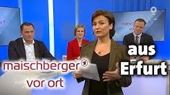 """""""maischberger. vor ort"""" aus Erfurt – mit Katja Kipping, Mario Voigt und Tino Chrupalla (11.3.2020)"""