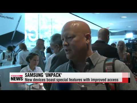 Samsung Electronics unveils new smartphones in NYC   패블릿의 진화…삼성 ′갤노트5•갤S6엣지+′ 뉴욕