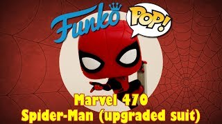 Spider-Man Far From Home Spider-Man Upgraded Suit Funko Pop unboxing (Marvel 470)