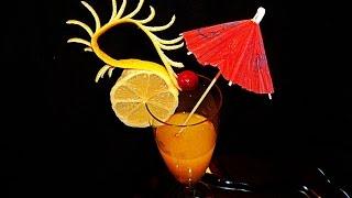 Украшения из лимона для коктейлей и десертов! Decoration of  lemon for cocktails and desserts!