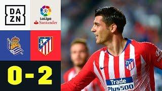 Doppelter Alvaro Morata in 3 Minuten: Real Sociedad - Atletico Madrid 0:2  La Liga  DAZN Highlights