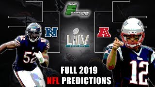 Full 2019 NFL Predictions | Standings, Playoffs, Super Bowl, and Awards!
