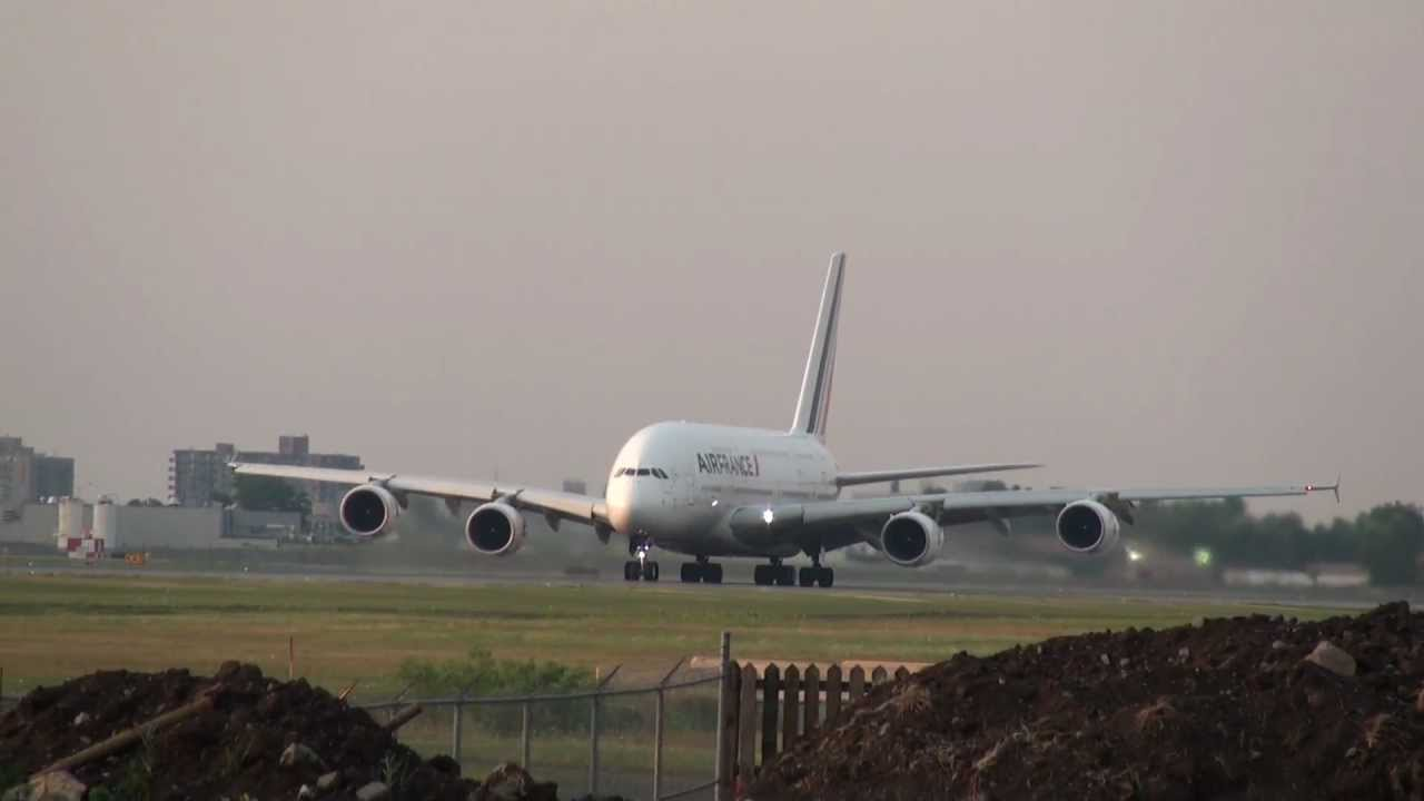Air France A380 800 Takeoff Yul Montreal Youtube
